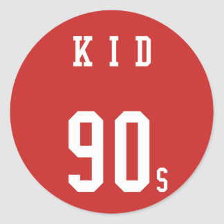 Made in 90s Kid Classic Round Sticker