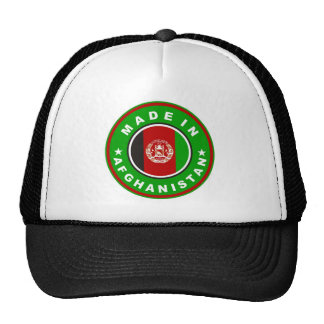 made in afghanistan country flag label cap