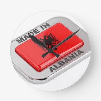 Made in Albania Round Clock
