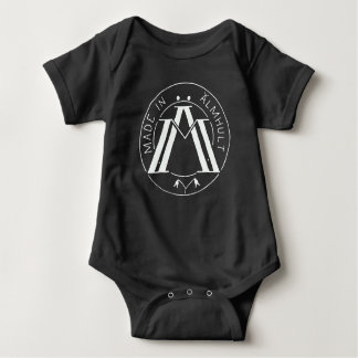 Made in Älmhult blk/wht Baby Bodysuit