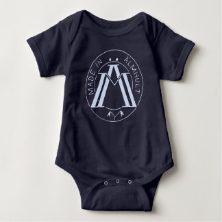 Made in Älmhult navy/light blue Baby Bodysuit