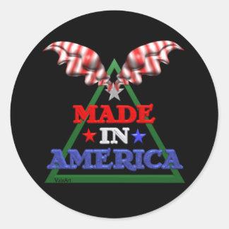 Made in America Classic Round Sticker