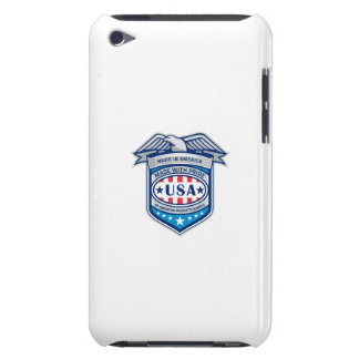 Made In America Eagle Patriotic Shield Retro Barely There iPod Cases