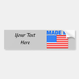 Made In America Flag Design Bumper Sticker