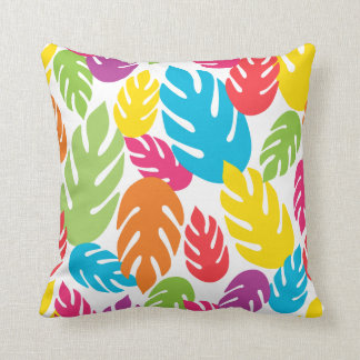 Made In America Jungle Leaves Throw Pillow