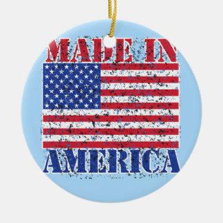Made in America Round Ceramic Decoration