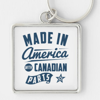 Made In America With Canadian Parts Key Ring