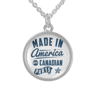 Made In America With Canadian Parts Sterling Silver Necklace
