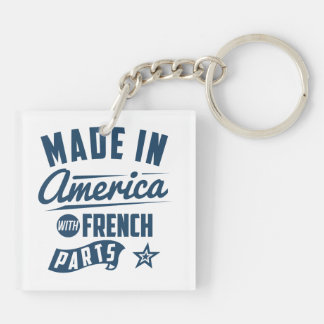 Made In America With French Parts Key Ring