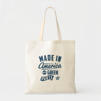 Made In America With Greek Parts Tote Bag