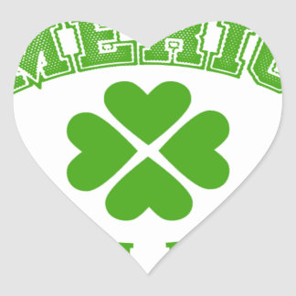 Made in America with Irish ingredients Heart Sticker