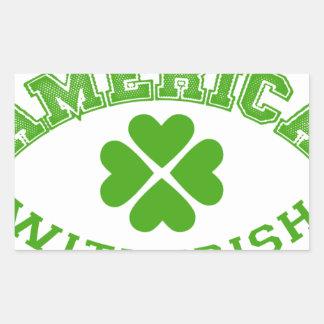 Made in America with Irish ingredients Rectangular Sticker