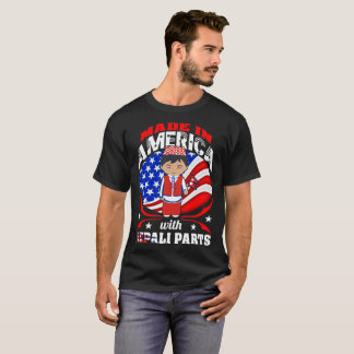 Made In America With Nepali Parts Country Tshirt