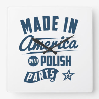 Made In America With Polish Parts Square Wall Clock