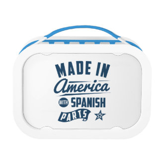 Made In America With Spanish Parts Lunch Box