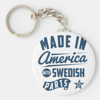 Made In America With Swedish Parts Basic Round Button Key Ring