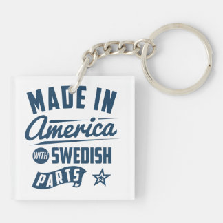 Made In America With Swedish Parts Key Ring