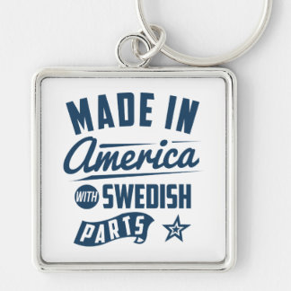 Made In America With Swedish Parts Silver-Colored Square Key Ring