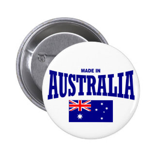 Made in Australia 6 Cm Round Badge