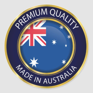 Made in Australia Seal, Australian Flag Classic Round Sticker