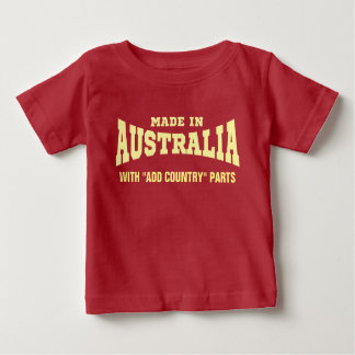 "Made In Australia With ""add country"" Parts Custom T Shirt"