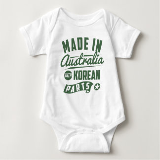 Made In Australia With Korean Parts Baby Bodysuit
