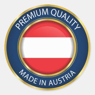 Made in Austria Flag, Austrian Seal, Icon Classic Round Sticker