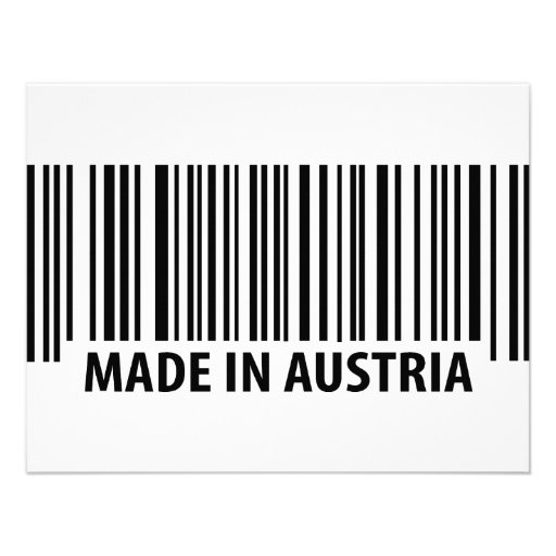 made in austria icon invitation