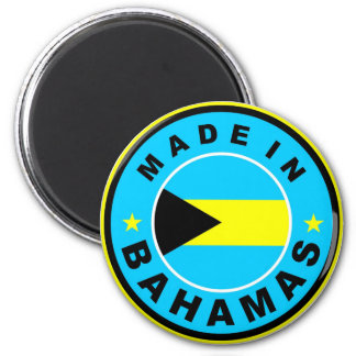 made in bahamas country flag label round stamp 6 cm round magnet