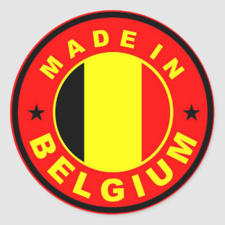 made in belgium country flag label stamp