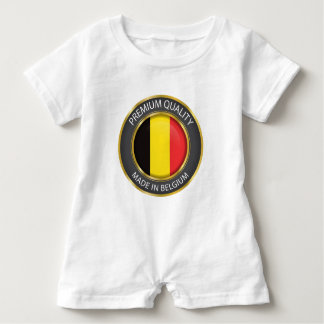 Made in Belgium Flag, Belgian Colors Baby Clothing Baby Bodysuit