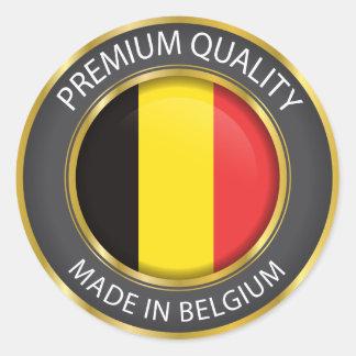 Made in Belgium Flag, Belgian Colors Seal