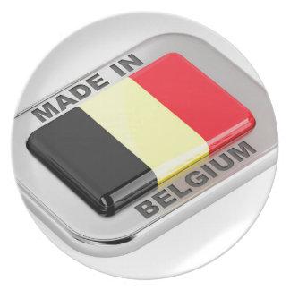 Made in Belgium Plate