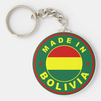 made in bolivia country flag label stamp key ring