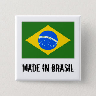 Made in Brasil square button