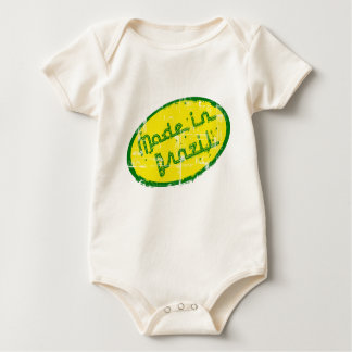Made in Brazil - Gift for Brazilian New Born Baby Baby Bodysuit