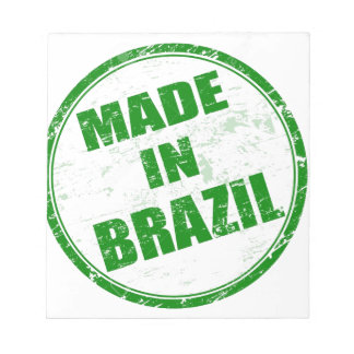 MADE IN BRAZIL NOTEPAD