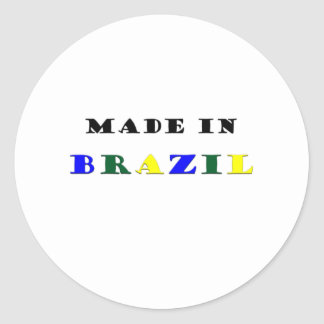 Made in Brazil Round Stickers