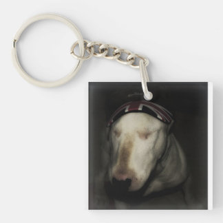 Made in Britain. Single-Sided Square Acrylic Key Ring