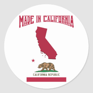Made in California Classic Round Sticker