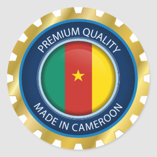 Made in Cameroon Flag, Cameroon Africa Sticker