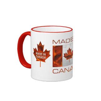 MADE IN CANADA 3D Leaf & Flag Coffee Mug