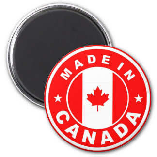 made in canada country flag label round stamp 6 cm round magnet