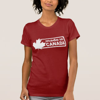 Made In Canada - Red Womens Shirt
