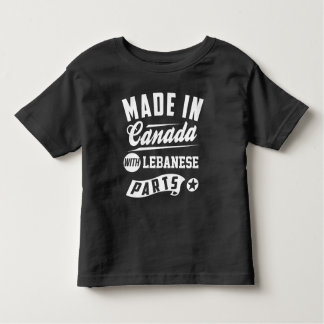 Made In Canada With Lebanese Parts Toddler T-Shirt