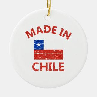 Made in chile round ceramic decoration