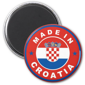 made in croatia country flag product label round refrigerator magnet