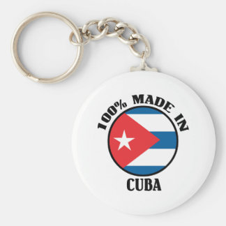 Made In Cuba Basic Round Button Key Ring