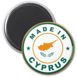 made in cyprus country flag product label round magnet