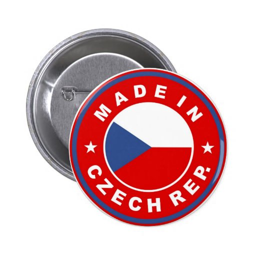 made in czech republic country flag product label pins